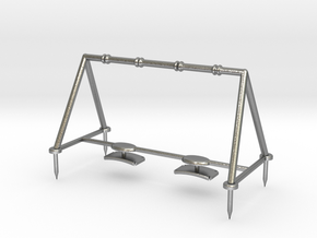 Children's Swings, HO Scale (1:87) in Natural Silver