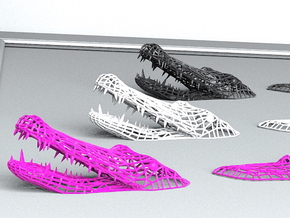 Crocodile Swimming on your wall :) in White Strong & Flexible