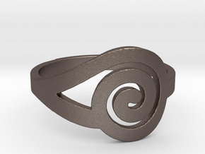 Spiral(R)ing in Polished Bronzed Silver Steel