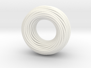 Twisted Ring Pendant - Part 1 in White Processed Versatile Plastic
