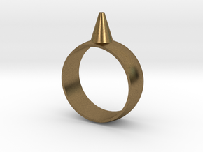 223-Designs Bullet Button Ring Size 8.5 in Natural Bronze