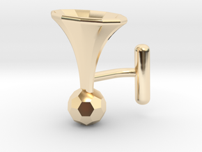 Onglehonk - right cufflink in 14K Yellow Gold