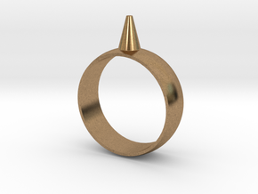11.5 223-Designs Bullet Button Ring Size  in Natural Brass