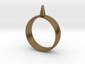 223-Designs Bullet Button Ring Size 14.5 in Natural Bronze