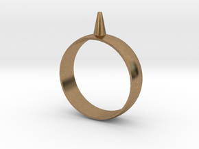 Size 16 223-Designs Bullet Button Ring  in Natural Brass