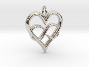 Infinity-heart in Platinum