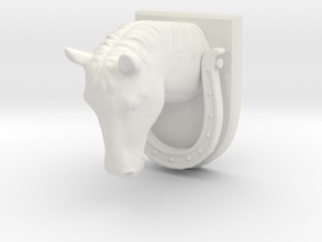Horse Door Knocker in White Strong & Flexible