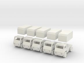 Civilian truck [ 5 Pack ] in White Natural Versatile Plastic