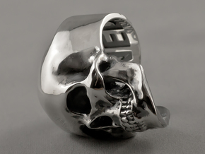 =Epic= Skull Ring - Size 11 in Polished Silver