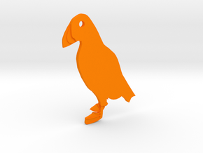 Puffin in Orange Strong & Flexible Polished