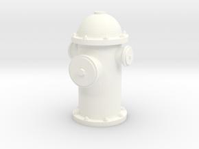 Hydrant in White Processed Versatile Plastic