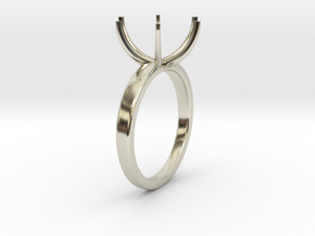 13mm Ring Setting in 14k White Gold