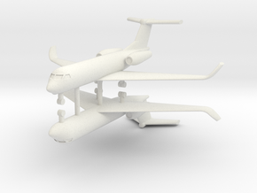 1/700 Low Detail G550 Gulfstream (x2) in White Natural Versatile Plastic