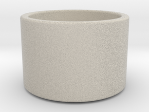 Minimal Tea Light Candle Holder in Natural Sandstone