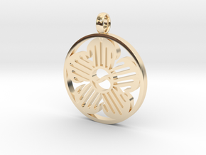 Immortal Flower Pendant in 14K Yellow Gold