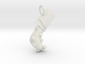 ALS Ice Bucket Pendant in White Natural Versatile Plastic