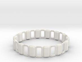 O Ring 3 in White Natural Versatile Plastic