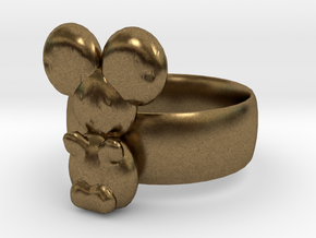 Koala ring in Natural Bronze