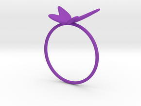 Butterfly Ring (size 7 US) in Purple Processed Versatile Plastic