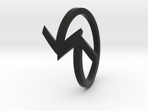 Arrow Ring (Size 7) in Black Natural Versatile Plastic