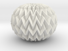 Miura Ball / sphere Decor Lite  in White Natural Versatile Plastic