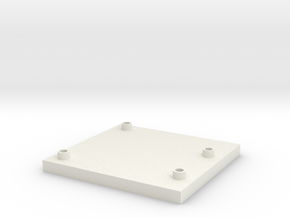 Arduino Uno Flat Mount in White Natural Versatile Plastic