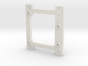 Arduino Uno Screw Wall Mount in White Natural Versatile Plastic