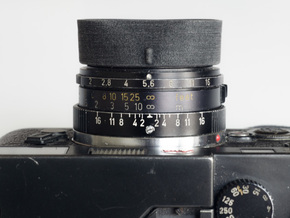 Lens Hood - 35mm f2 Summicron M / Canon LTM in Black Acrylic