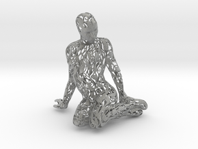 Kneeling Woman in Metallic Plastic