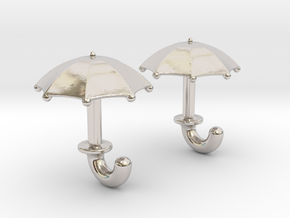 Umbrella Cufflinks in Platinum