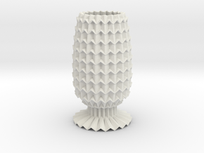 Vase Grid Decorative Lite in White Strong & Flexible