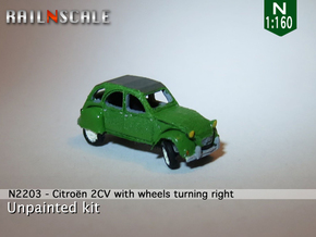 Citroën 2CV - parked (N 1:160) in Smooth Fine Detail Plastic