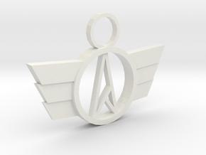 Neo-A Pendant in White Natural Versatile Plastic