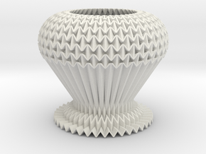 Tessellated Decoration Waterbomb Shorter Lite in White Strong & Flexible