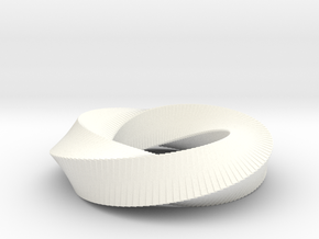 Möbius Strip (4,3) in White Processed Versatile Plastic