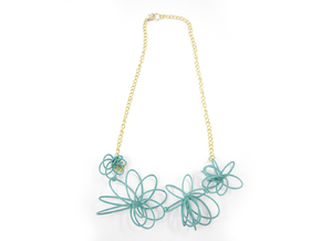 Flora Necklace in White Natural Versatile Plastic