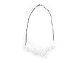 Sprouted Spiral Necklace in White Strong & Flexible