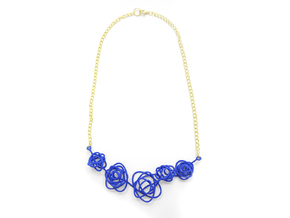 Sprouted Spiral Necklace in Blue Strong & Flexible Polished