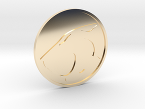 Thundercats Coin in 14K Yellow Gold