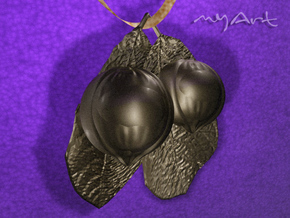 Guarana Fruit in Polished Bronzed Silver Steel