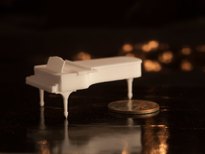 1:48 Concert Grand Piano in White Natural Versatile Plastic