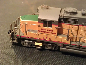 8 No. Re-Railers Type 2 Truck Mount N Scale 1:160 in Frosted Ultra Detail