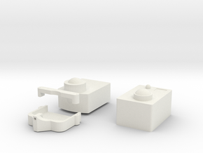 Rev1. Gimbal in White Natural Versatile Plastic