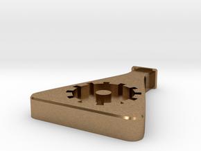 Collegium Pin in Natural Brass