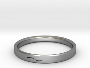 Bracelet with Asymmetrical Design in Natural Silver