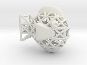 Fishy 2.0 in White Natural Versatile Plastic