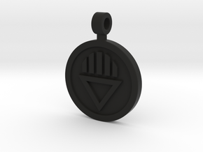Black Death Pendant in Black Natural Versatile Plastic