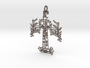 CRUZ PRINT.stl in Polished Bronzed Silver Steel