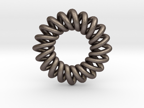 Basic 20-point Knot in Polished Bronzed Silver Steel