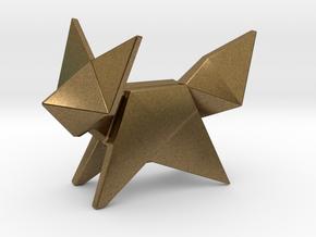 Origami Fox in Natural Bronze